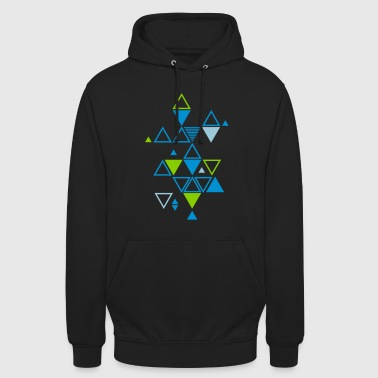 graphic pattern of triangles - Unisex Hoodie