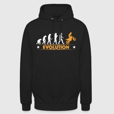 Motocross Motocross Evolution - orange/weiss - Sudadera con capucha unisex