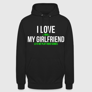 J'aime ma copine T-shirt Funny Gamer - Sweat-shirt à capuche unisexe