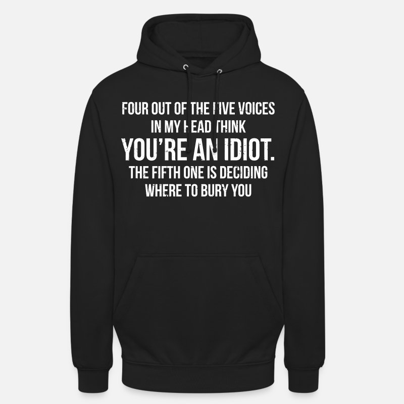 Humour Hoodies & Sweatshirts - Funny Sarcastic Quote Humour Gift T-shirt - Unisex Hoodie black