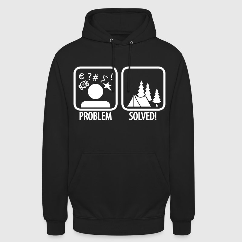 problem solved - camping - Unisex Hoodie