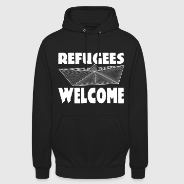 Refugees Welcome - Sweat-shirt à capuche unisexe