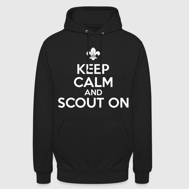 Keep calm and scout on - Sweat-shirt à capuche unisexe