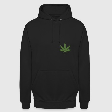 Weed leave 20x20 - Sweat-shirt à capuche unisexe
