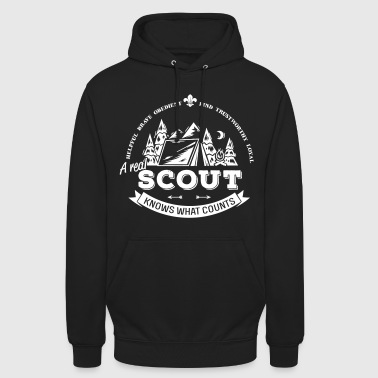 A real scout knows what counts - Sweat-shirt à capuche unisexe