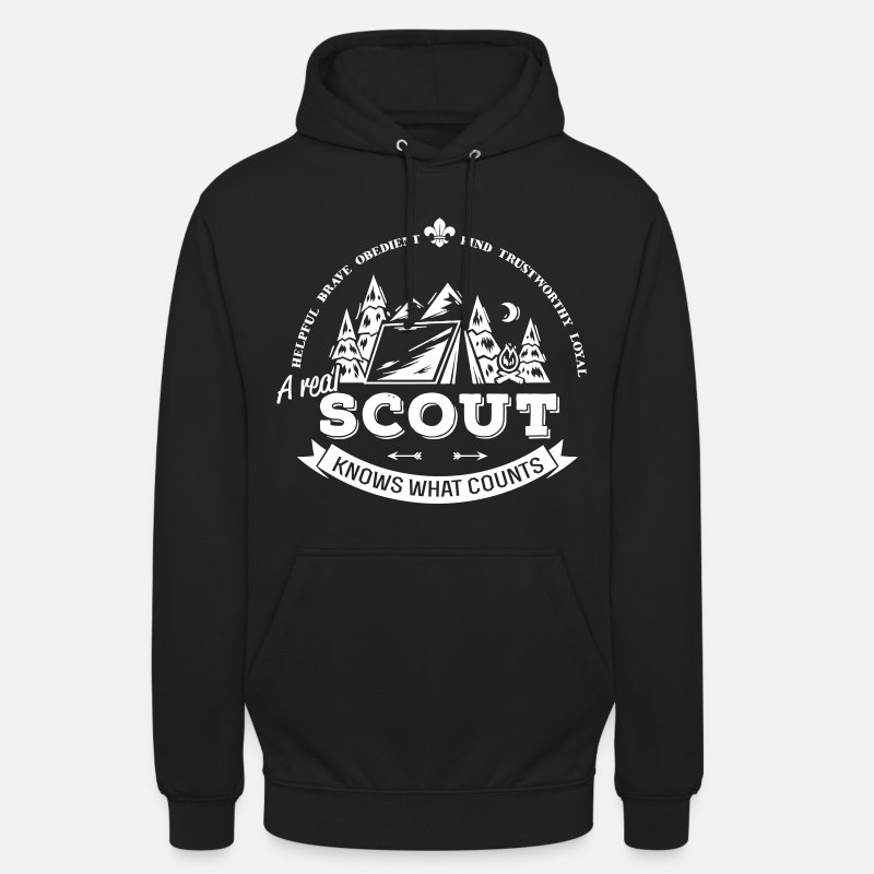 Scout Sweat-shirts - A real scout knows what counts - Sweat à capuche unisexe noir