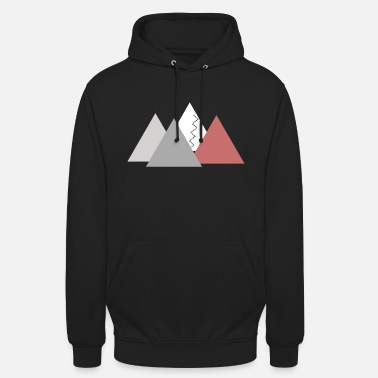 Mountains; mountains - Unisex Hoodie