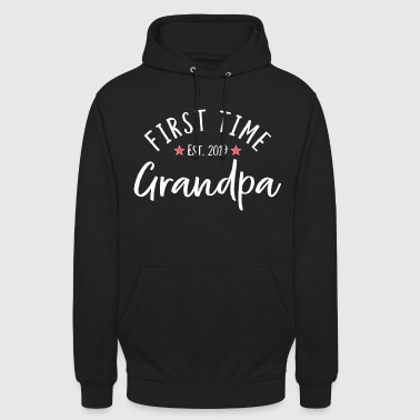 For the first time Grandpa 2019 - grandfather gift - Unisex Hoodie