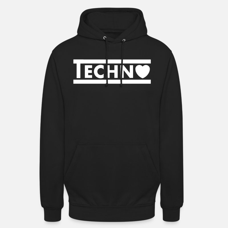 Drugs Hoodies & Sweatshirts - Techno Heart - Unisex Hoodie black