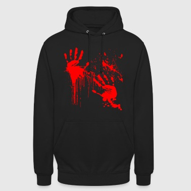 Blood Stains Blood Halloween Blood-stained horror thriller - Unisex Hoodie