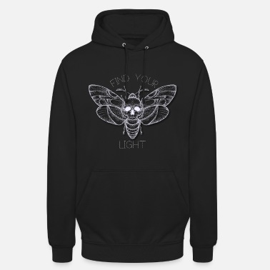 Nachtfalter Finde Dein Licht - Find Your Light - Unisex Hoodie