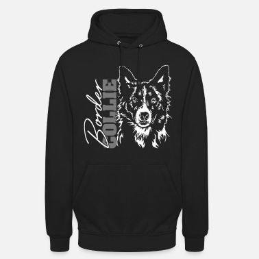 Border Collie BORDER COLLIE Portrait Wilsigns - Unisex Hoodie