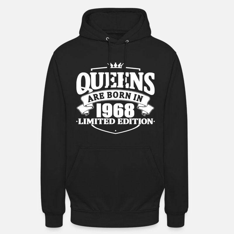 1968 Hoodies & Sweatshirts - Queens are born in 1968 - Unisex Hoodie black