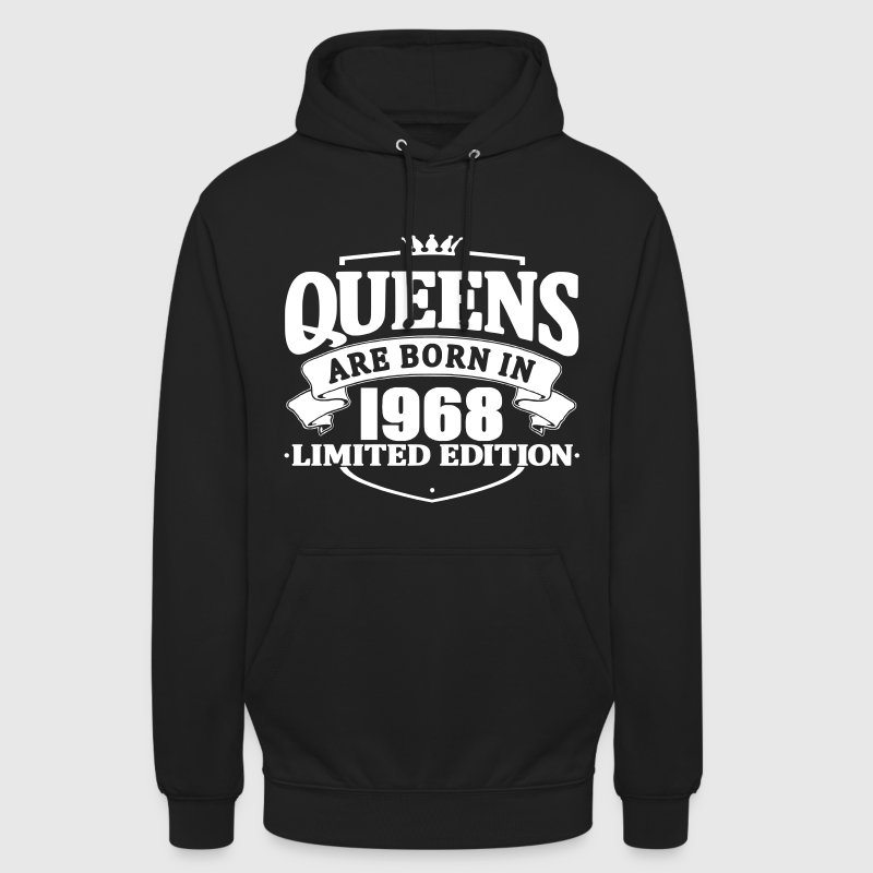 Queens are born in 1968 - Unisex Hoodie