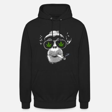 Joint Chimpanzee with joint - Marijuana - Hoodie unisex