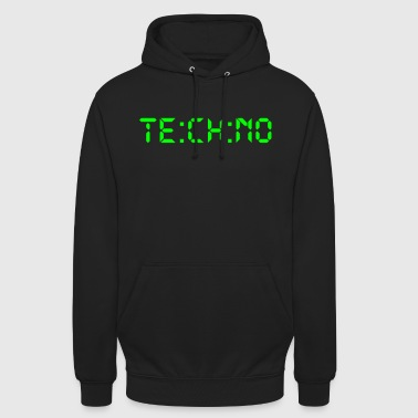 Techno Digital - Bluza z kapturem typu unisex