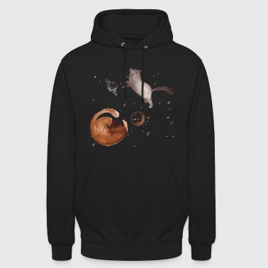Planet Cat cosmos planet universe - Unisex Hoodie