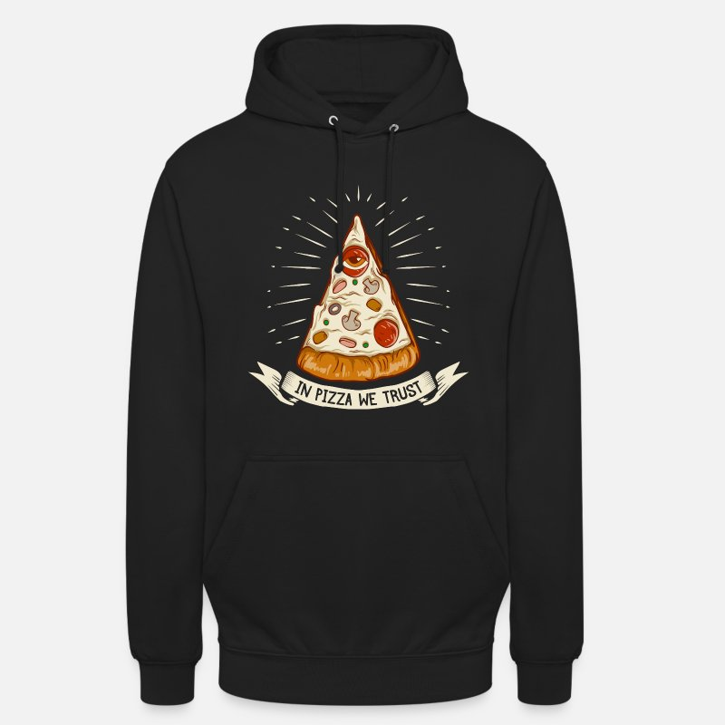Weihnachten Pullover & Hoodies - In Pizza we trust - the original premium design - Unisex Hoodie Schwarz