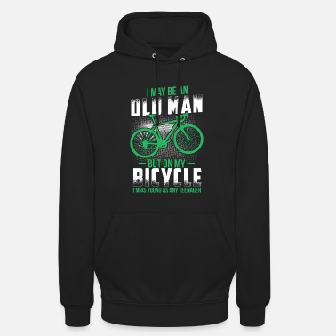Cyclist Bicycle boy old cyclist tea gift - Unisex Hoodie