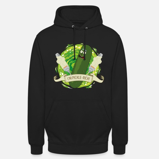 Officialbrands Pullover & Hoodies - Rick And Morty I'm Pickle-Rick Gurken-Rick - Unisex Hoodie Schwarz
