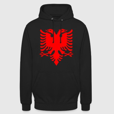 red double-headed eagle Albanian Double Eagle - Unisex Hoodie
