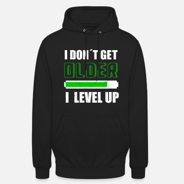 Gamma Jeg DON T GET OLDER I LEVEL UP | Videospillkonsoll - Unisex-hettegenser