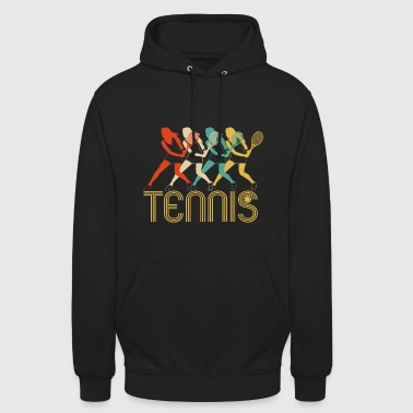 Retro Pop Art Tennis Players,Fan Club Tennis Gifts - Unisex Hoodie