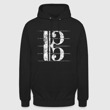 Viola key, Sheet music key - Unisex Hoodie