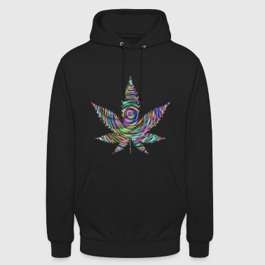 Colorful marijuana leaf plant weed - Unisex Hoodie