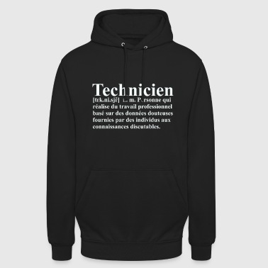 Informatique Technicien Définition - Sweat-shirt à capuche unisexe