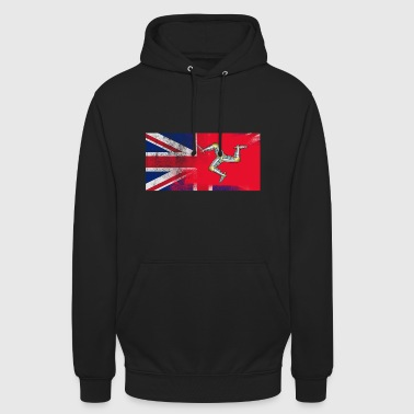 Isle Of Wight British Manxman Half Isle of Man Half UK Flag - Unisex Hoodie
