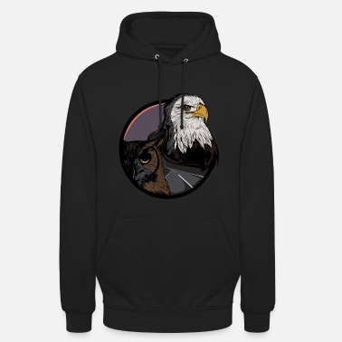 Eagle - forest - owl - eagle owl - highway - road - Unisex Hoodie