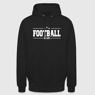 football is life 1 - Luvtröja unisex