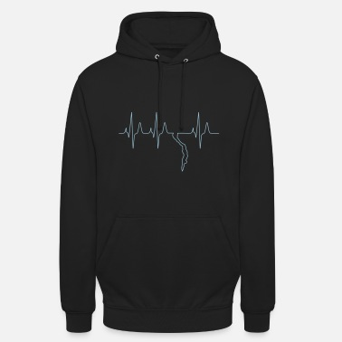 Freediving Free diving freediver heartbeat - Unisex Hoodie