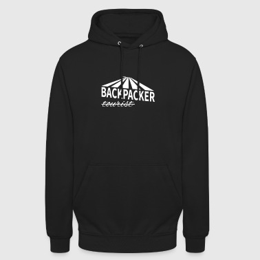 Backpacker - not tourist - Unisex Hoodie