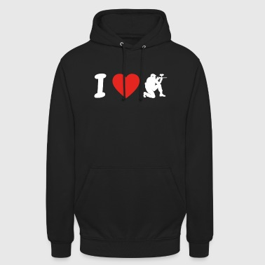 I Love Love paintball png - Bluza z kapturem typu unisex