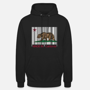 Made in California Barcode - Sweat-shirt à capuche unisexe