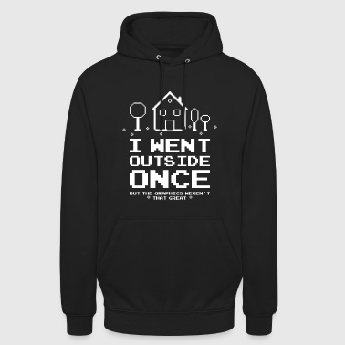 I Went Outside Gaming Nerd Funny - Unisex Hoodie