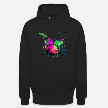 Drummer IMPACT ABSTRACT COLORFUL - Unisex Hoodie