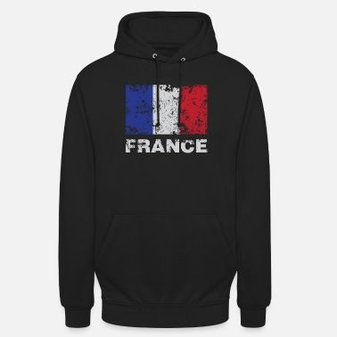 French Flag Distressed Flag Of France French Republic Pride - Unisex Hoodie