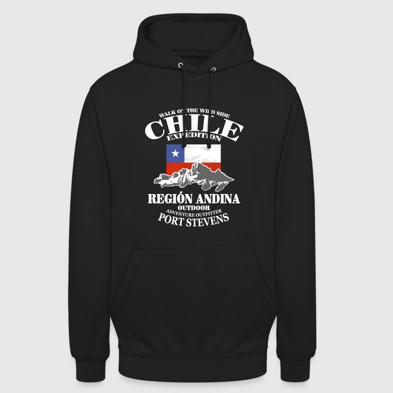 Chile - Flag & Mountains - Sweat-shirt à capuche unisexe