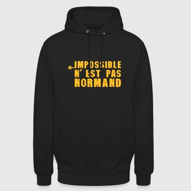 normand impossible nest pas meche - Sweat-shirt à capuche unisexe