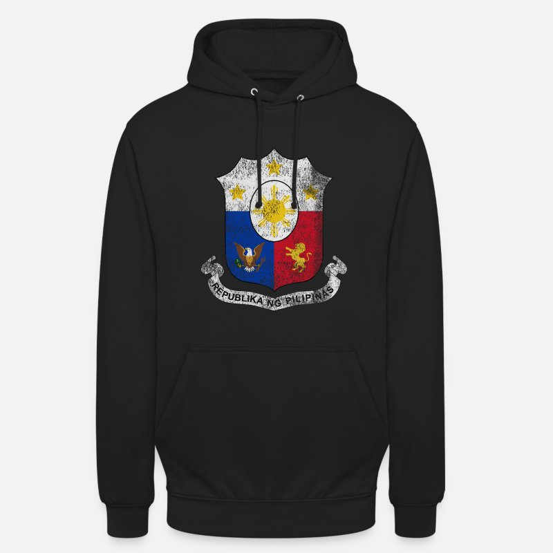 Filipino Hoodies & Sweatshirts - Filipino Coat of Arms Philippines Symbol - Unisex Hoodie black