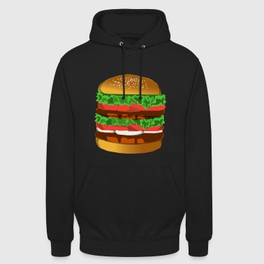 Hamburger hamburger - Sweat-shirt à capuche unisexe
