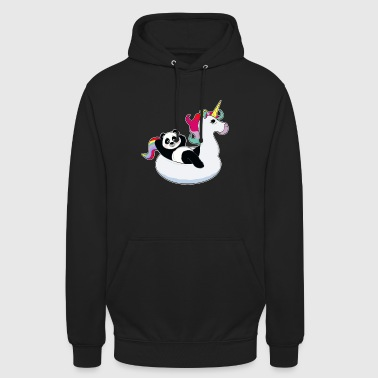 Panda en unicorn air mat kawaii summer cool - Sudadera con capucha unisex