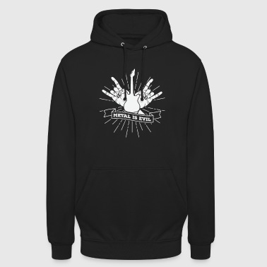 Gift rock rock music guitarist Heavy Metal - Unisex Hoodie
