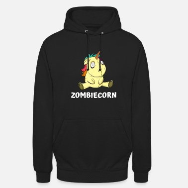 Unicorn Zombie Funny Halloween Party Costume - Hoodie unisex