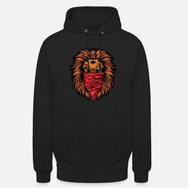 Gangster Lion Gangster Roaring Lion Red Bandana - Hoodie unisex