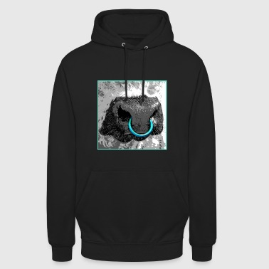 Galloway Bull / Nose ring - Unisex Hoodie