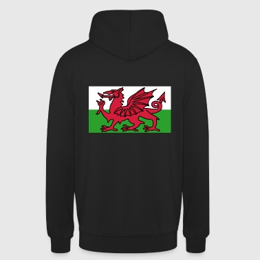 Welsh Flag - Flag of Wales - Unisex Hoodie